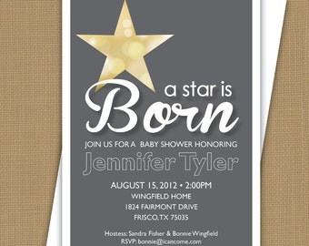 Baby Shower Invitation. A Star is Born