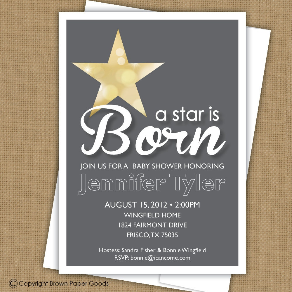 baby shower invitation a star is born