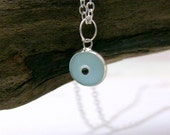 Evil Eye Necklace, Silver, Minimalist, Sterling Silver, Light Blue, Tiny, Evil Eye Charm, Protection, Petite Jewelry