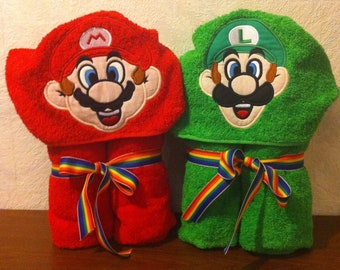 Green or Red Hooded Towel