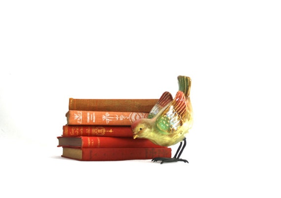 Red Book Collection - Fall Holiday - Home Decor - Cranberry Red Orange small book stack