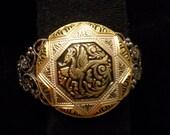 Vintage  Dragon Bracelet in Damascene