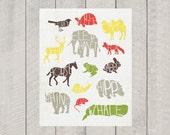 Nursery Art Print - Animal Poster