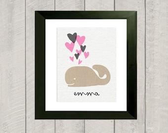 Nursery Art Print - Whale