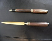 Ebony Pen and Letter Opener Gift Set