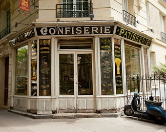 Paris Photograph, Patisserie, Confiserie, Cafe, France, Travel Photography - Day Off in Paris - 8x10 fine art photograph