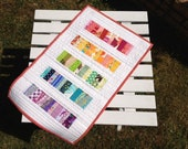 Quilted Rainbow Table Runner