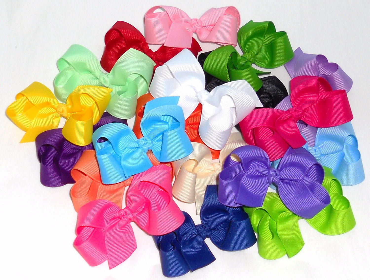 Sale 10 Baby Hair Bows Baby Bows Baby Hair Clips 3 Small