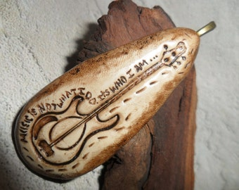 Music is not what I do, It's who I am Pendant Guitar