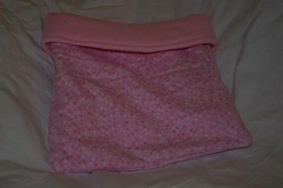 SALE Light Pink Stars Flannel with Light Pink Liner