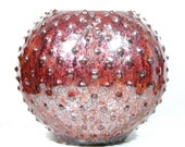 Modern Vase - Round Porcelain Sphere - Mid Century Orb - Textured Flower Vessel - Spiked Ceramic Urn - Minimalist Vase - Modern Bowl