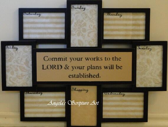 Scripture Wall Art Weekly Organizer and Calendar