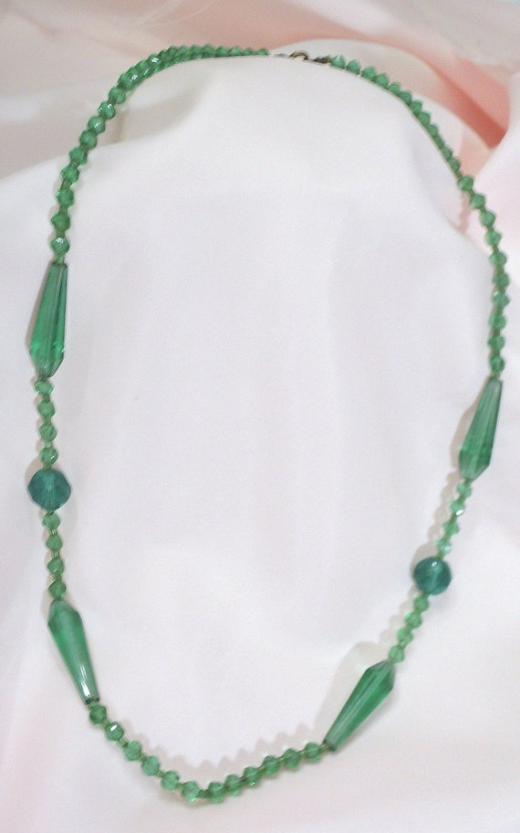 Free Ship Old Czech Crystal Necklace