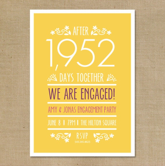 Items similar to diy printable engagement party invitation for Etsy engagement party invites