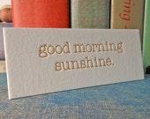 Good Morning Sunshine - notion