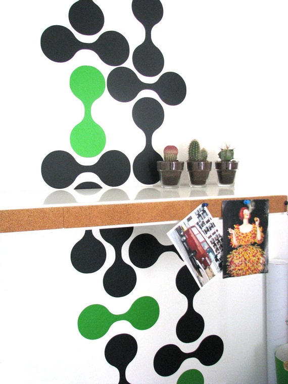 Vinyl Wall Decal Pattern, Graphic Decals, Wall Stickers, Home, Office Decoration - ID651
