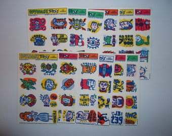 Rare 80s Pee Wee's Playhouse Tattoos 12 Different Sheets 1988 Vintage Pee-Wee Herman Big Adventure Hipster Cool Stocking Stuffer 1980s