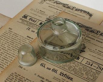Antique Soviet Vintage Glass - Craft Supply - Specimen Bottle - Medium - 1930's