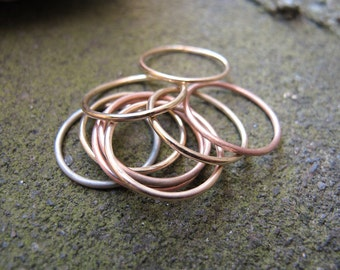 14k Simple Round Ring