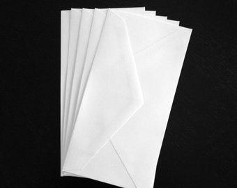 10 White Monarch 3.875 x 7.5 Standard Size Envelopes