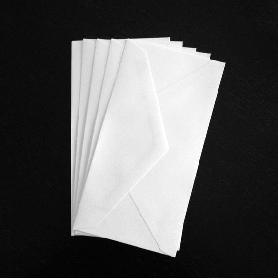 10 white monarch 3 875 x 7 5 standard size envelopes