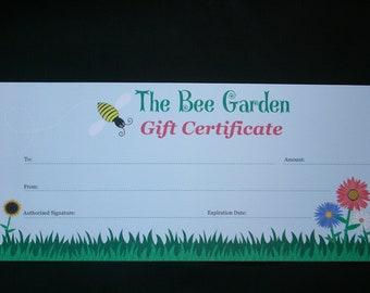 The Bee Garden Gift Certificate