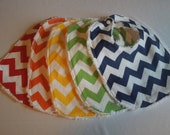 Any 5 Chevron Baby Bibs -  Choose your colors - Rainbow chevron bibs