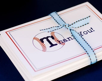 Baseball Themed Thank You Cards