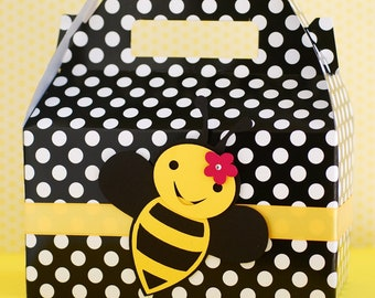 Bumble Bee Gable Boxes - Set of 8