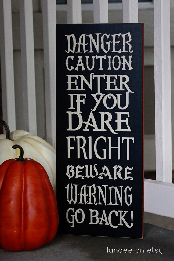 Enter If You Dare -- typography, subway art, Halloween
