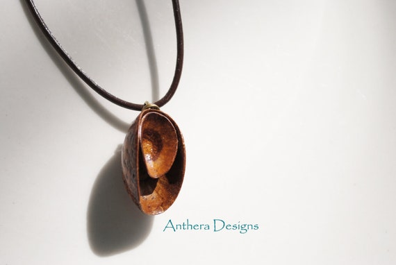 Acorn Mens Necklace - Unique Natural Jewelry Eco Friendly Organic
