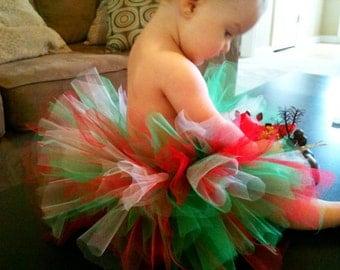 Baby Tutu, Tutu Skirt, Christmas Tutu, Tutus for Children-Christmas Red White and Green Christmas Tutu Great for Photos