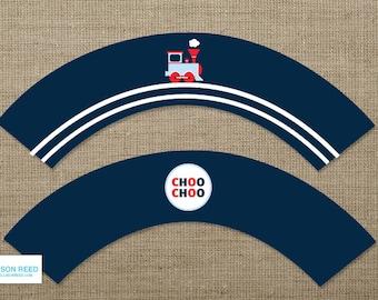 Train Printable - Train Birthday - Train Banner - decorations - choo choo - printable party - 2nd birthday - first birthday - boy birthday