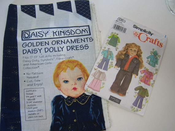 Daisy Kingdom fabric Panel American Girl sewing Pattern Dress Simplicity Elain Heigl design doll