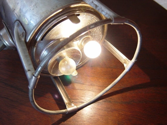 Antique Hand-Held Railroad Lantern, Working, Battery Powered, Vintage Lamp, Steampunk, Torch, Mary Poppins Vintage