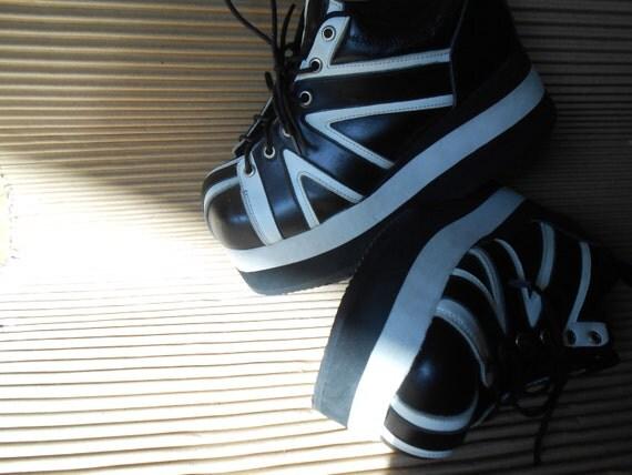 90's Platform Sneakers Grunge Punk Goth Club Kid