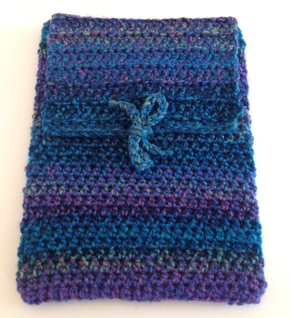 RESERVED for Jayne - CLEARANCE SALE: Soft iPad cover in caribbean colors with tie closure