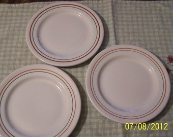 Three Side Plates - Sterling China