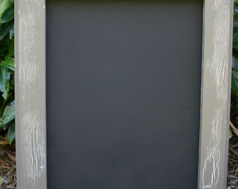 "18x22"" Gray Vintage Style Frame Chalk Board"