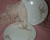 Shabby Dessert Plates Roses Dessert Plates