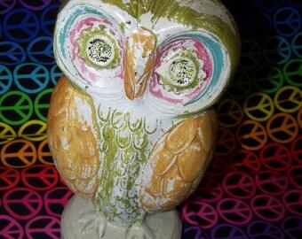 60's Owl Bank Vintage Owl Bank Orleans Worldwide Ceramic Owl