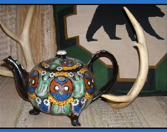 THOUNE Thun Teapot, Switzerland, Owls, Black Forest, on Sale