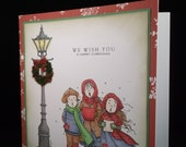 Carollers Three - Handmade Christmas Greetings Card