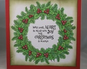 Christmas Garland - Handmade Christmas Card