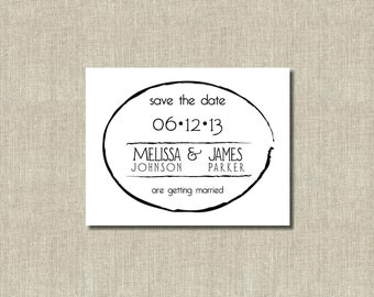 Printable Save the Date Digital Printable Card Zen Circle - Custom Colors - Simple Save the Date