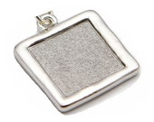 Text Pendant Only - Ten Commandments - Hammered Rhodium Plated - Loupe Optional
