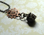 Steampunk Jewelry Steampunk Necklace Upcycled Jewelry Small Steampunk Vintage box Necklace Unisex Jewelry Mens Jewelry Oddities Jewelry