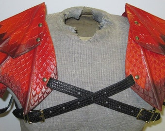Leather Armor Dragon Scale Shoulders