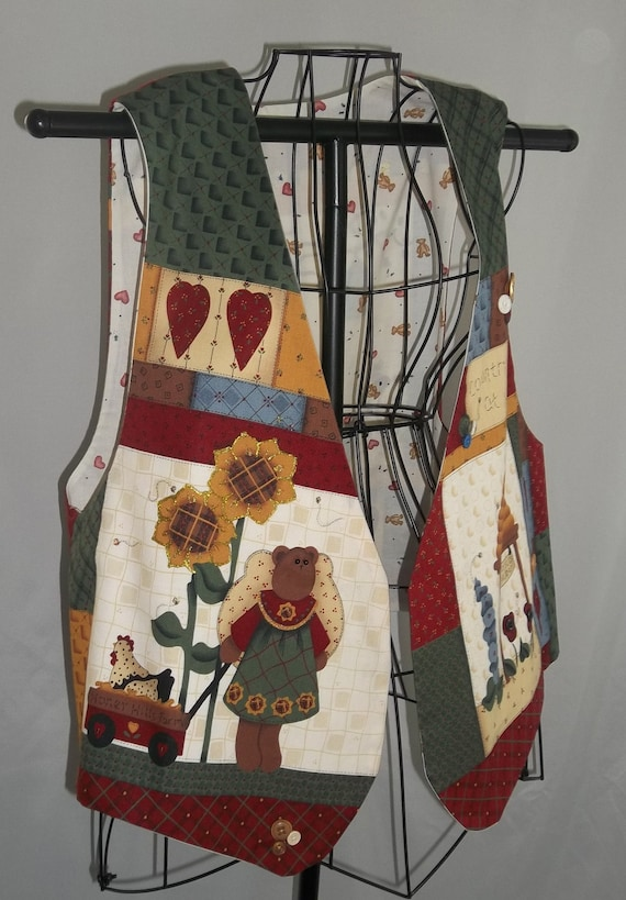 Country Bears At Heart Cotton Women's Vest