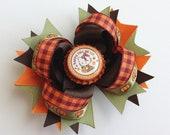 Happy Fall Pumpkin Hair Bow